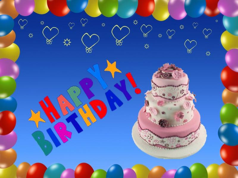 Happy Birthday Blue  Hd   Slides Backgrounds