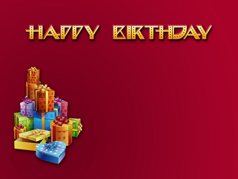 Happy birthday gift red Backgrounds