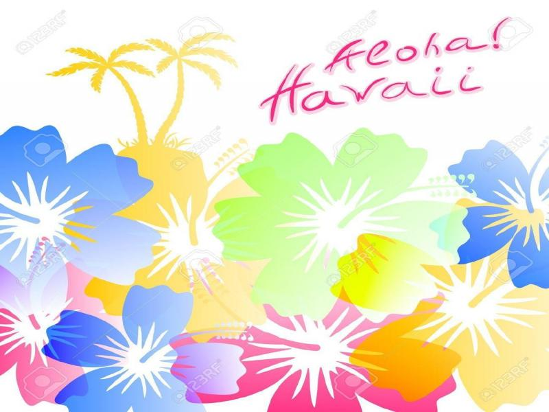 Hawaii Colorful Slides Backgrounds For Powerpoint Templates Ppt