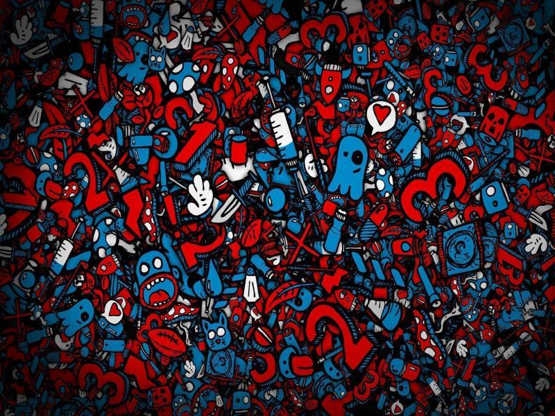 Hd Graffiti Numbers Presentation Backgrounds