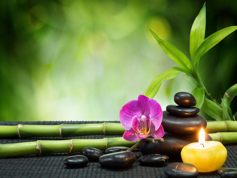 heart stones and spa massage hd art backgrounds for