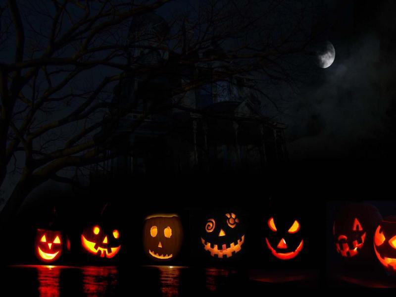 Helloween Holidays HD  Halloweens Presentation Backgrounds