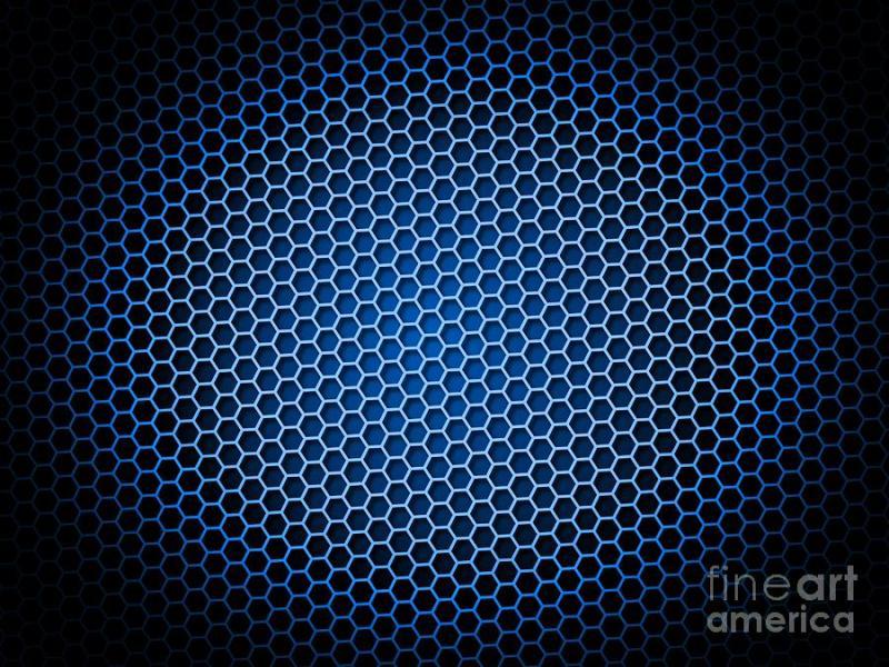 Honeycomb Blue Digital Art By Henrik Lehnerer Backgrounds