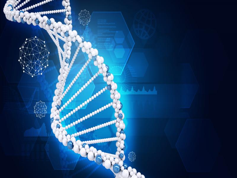 Human DNA Of Hexagons Backgrounds