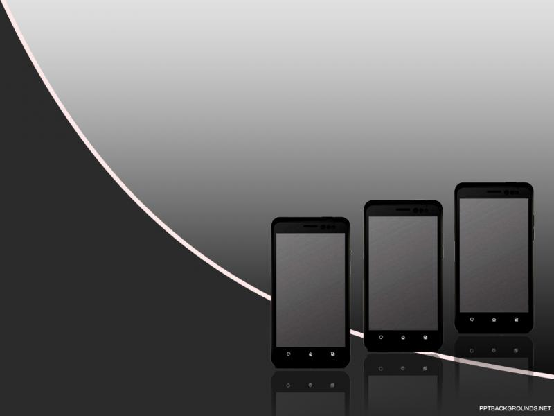IPhone Mobile For PowerPoint  Technology Presentation Backgrounds