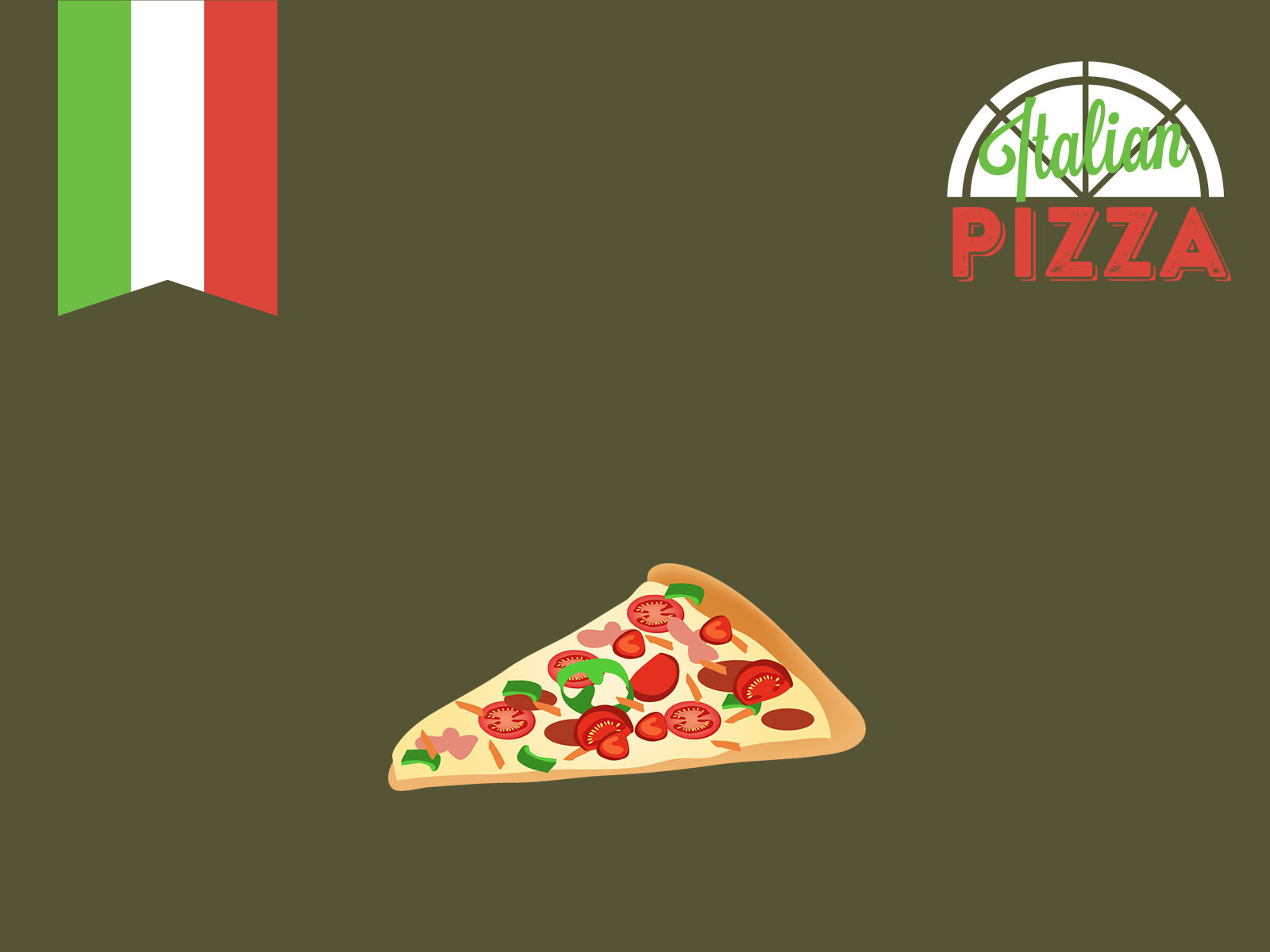 italian pizza backgrounds for powerpoint templates - ppt backgrounds, Modern powerpoint