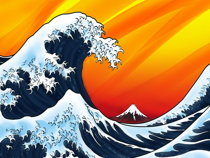 Japanese Wave Backgrounds