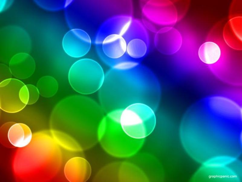 Keynote Rainbow Bokeh Powerpoint Wallpaper Backgrounds For