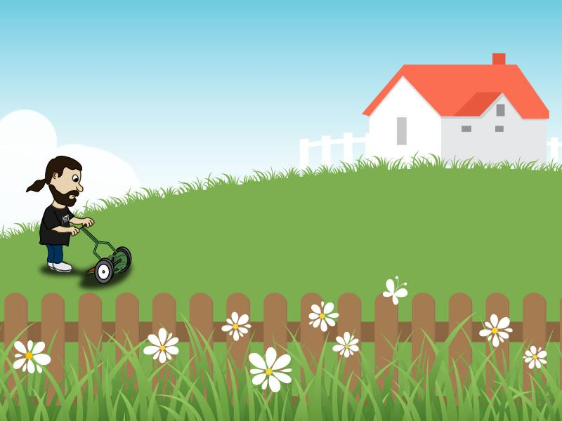 Lawn Mower PPT Backgrounds
