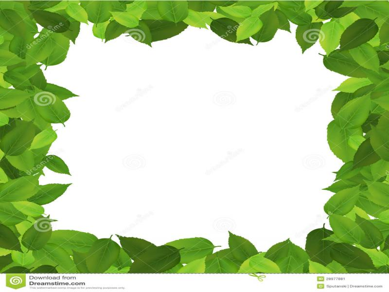 leaf border art backgrounds for powerpoint templates