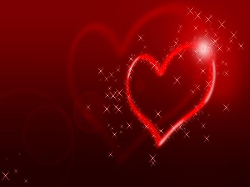 Lights Heart Presentation Backgrounds