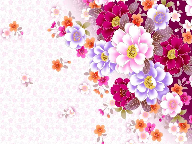Lorful Template  Professional Flower Pattern PowerPoint   Quality Backgrounds