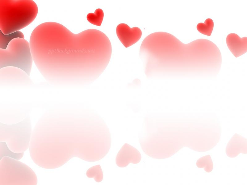 Love Hearts Red Backgrounds