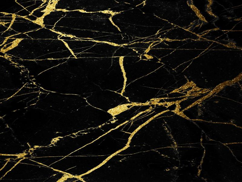 Marble Texture Gold Black Backgrounds For Powerpoint