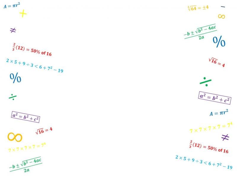 Math Marking Design Backgrounds For Powerpoint Templates Ppt