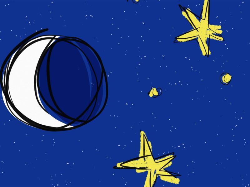 Moon Star Cartoon Backgrounds