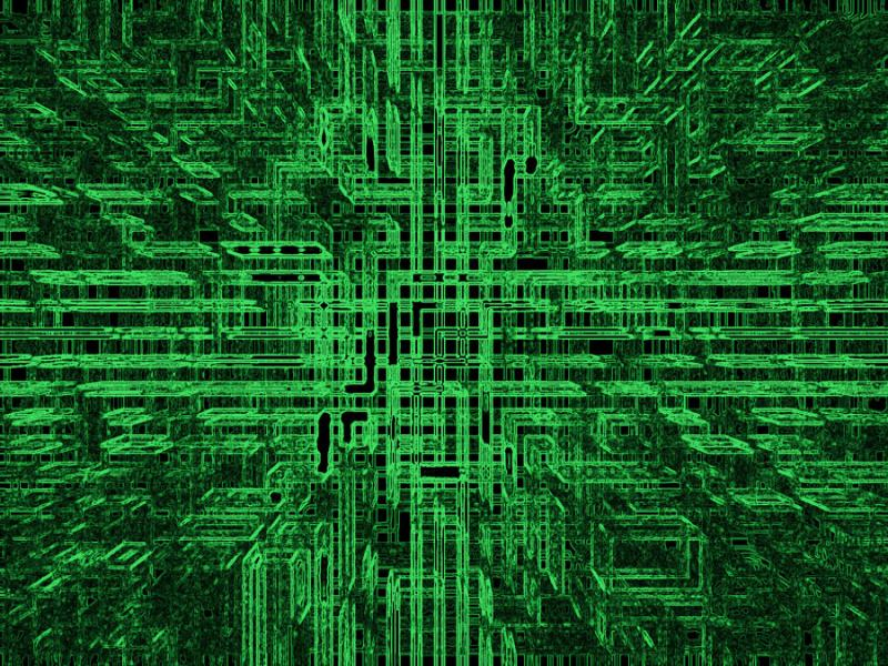Motherboard Technology Green  Template Backgrounds