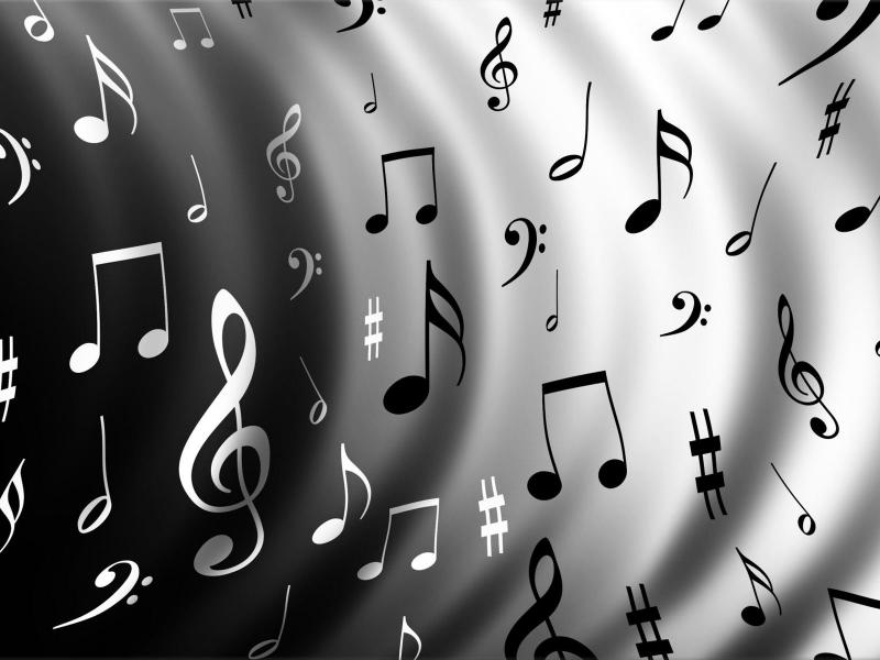 Music Notes Template Backgrounds for Powerpoint Templates - PPT ...
