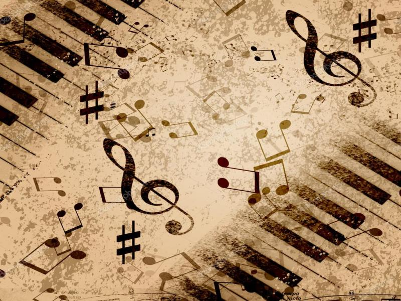 Natural Music Notes Wallpaper Backgrounds For Powerpoint