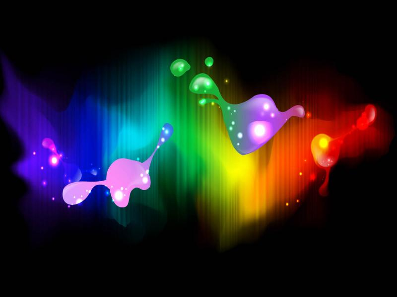 Neon Art Colorful Backgrounds