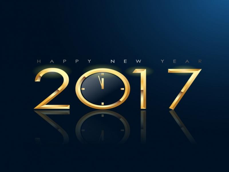 New Year Drack Design Vector Template Backgrounds