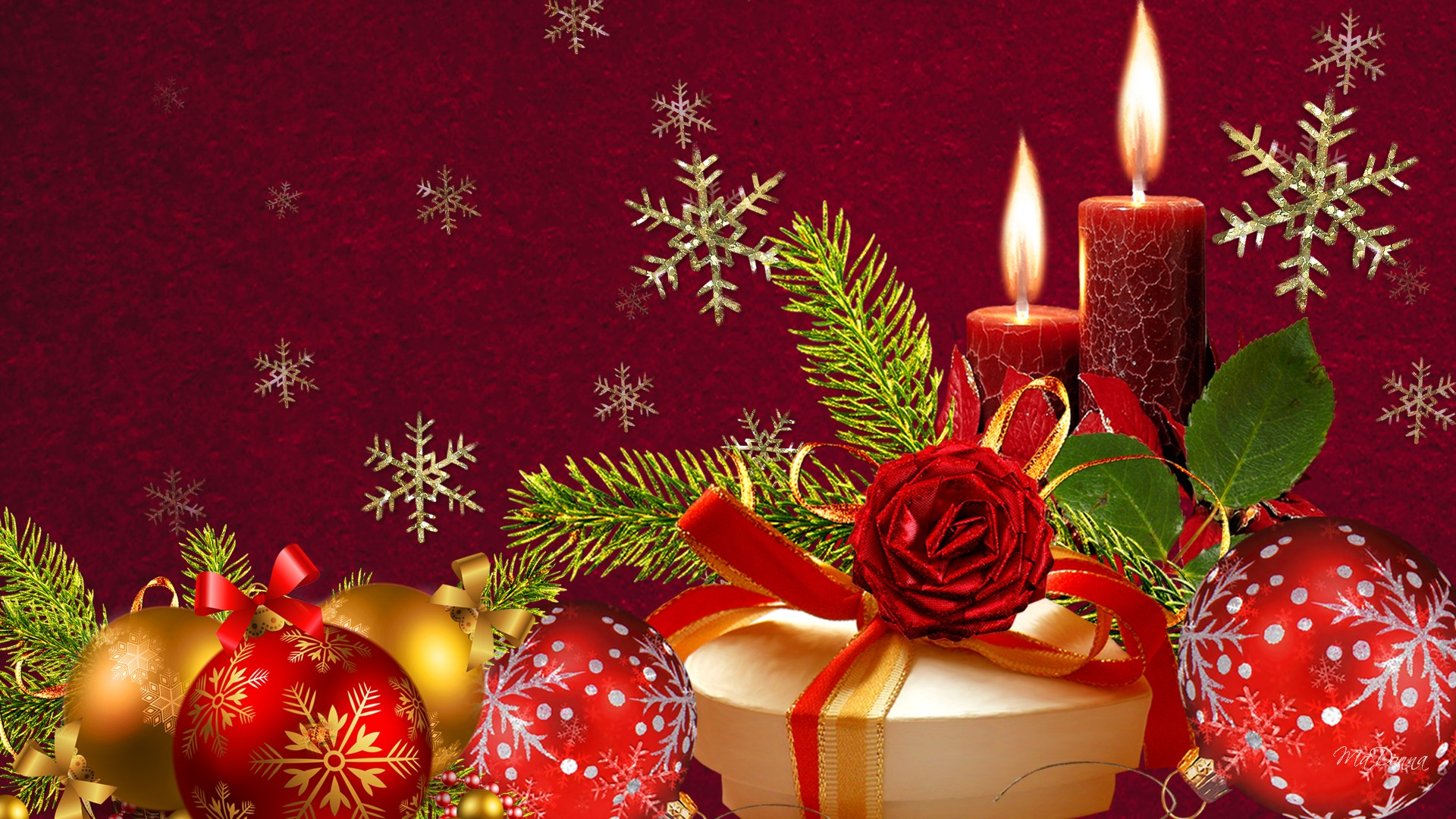 New Year gift ornament Backgrounds
