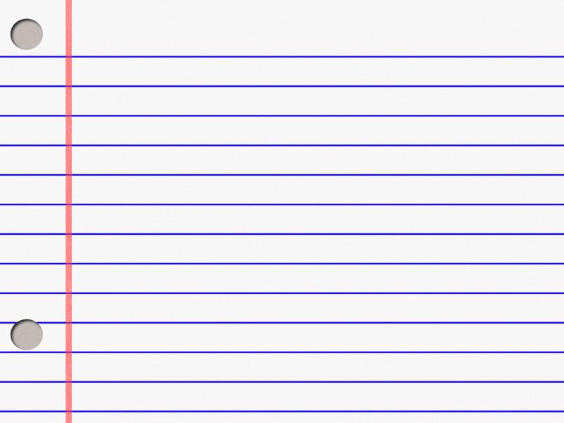Notebook Paper Template Backgrounds
