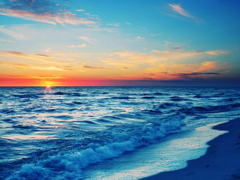 Ocean Sunset Art Backgrounds