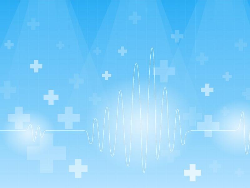 On A Blue  Blue Health Medical White  PPT Presentation Backgrounds