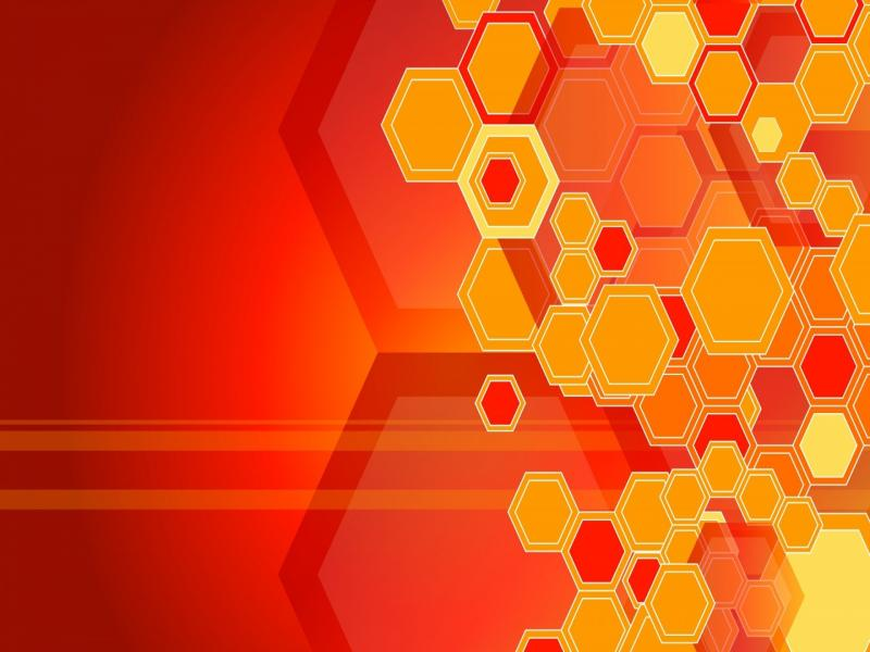 Orange Honeycomb Structures and Images  Picture Backgrounds