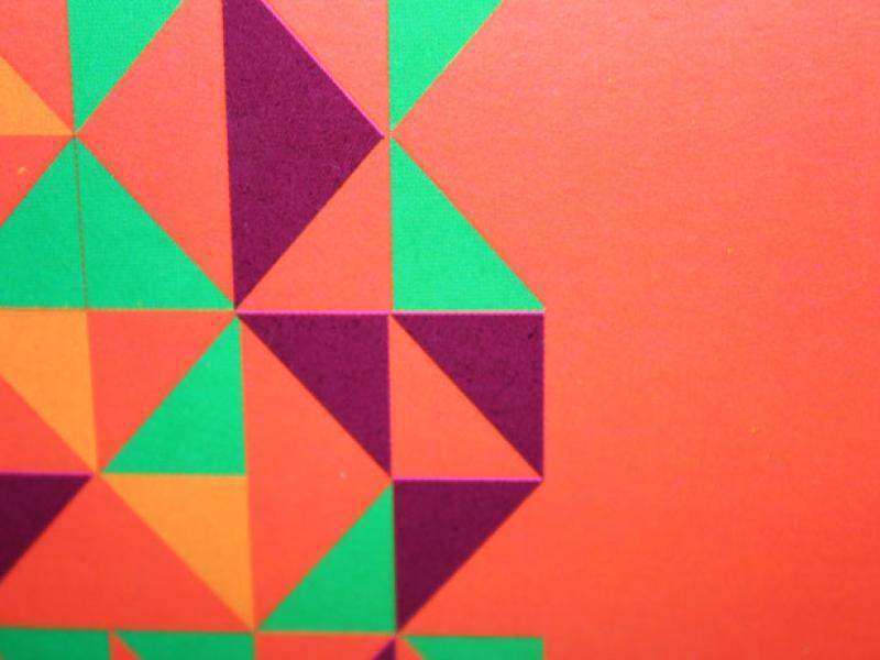Orange Triangles Stock Slides Backgrounds