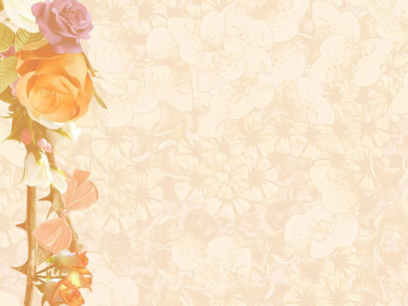 Paper Flowers PPT Backgrounds