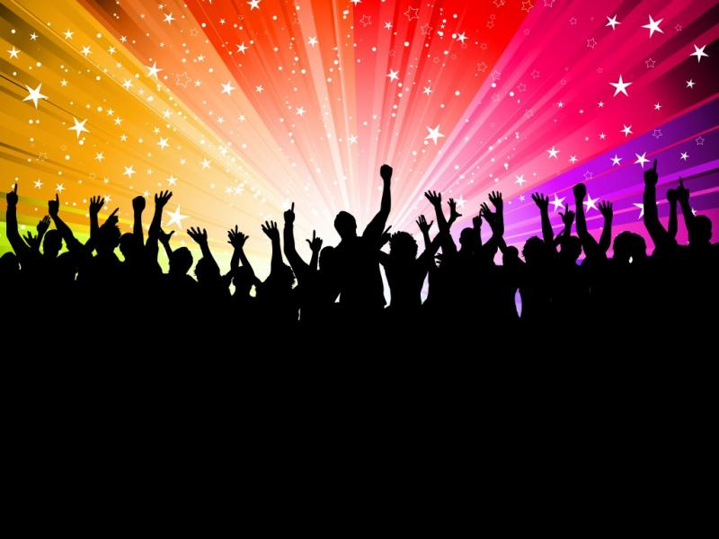 Party People on Starburst Graphic Backgrounds