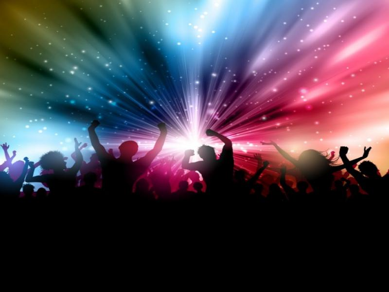 Party With People Silhoettes Vector Backgrounds