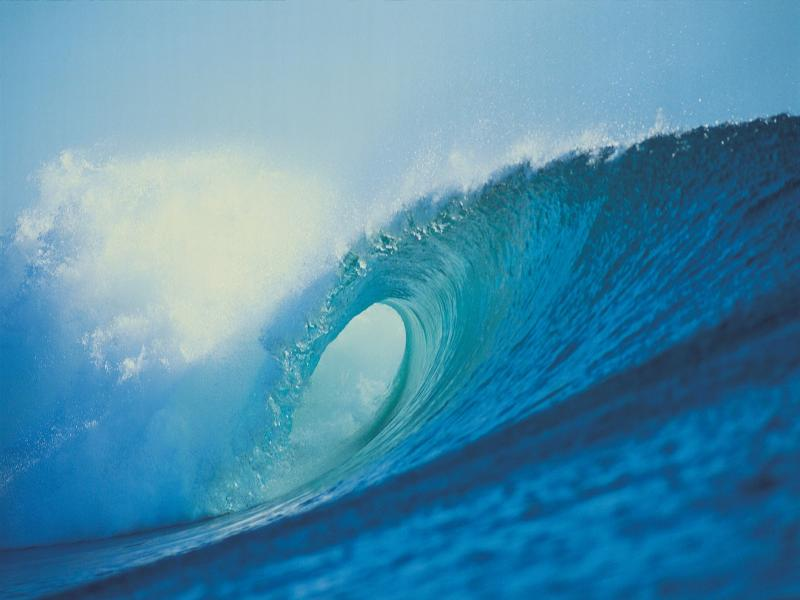 Photo Powerful Ocean Waves Clip Art Backgrounds