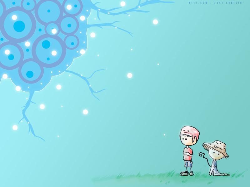 Photos Cartoon Cute Baby For Presentation Backgrounds