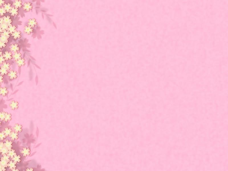 Pics Photos Pink Flower Template Presentation Backgrounds For