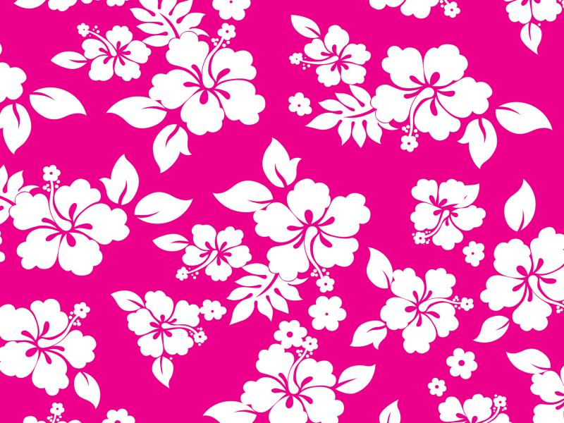 Pink Hawaiian Flower Graphic Backgrounds For Powerpoint Templates