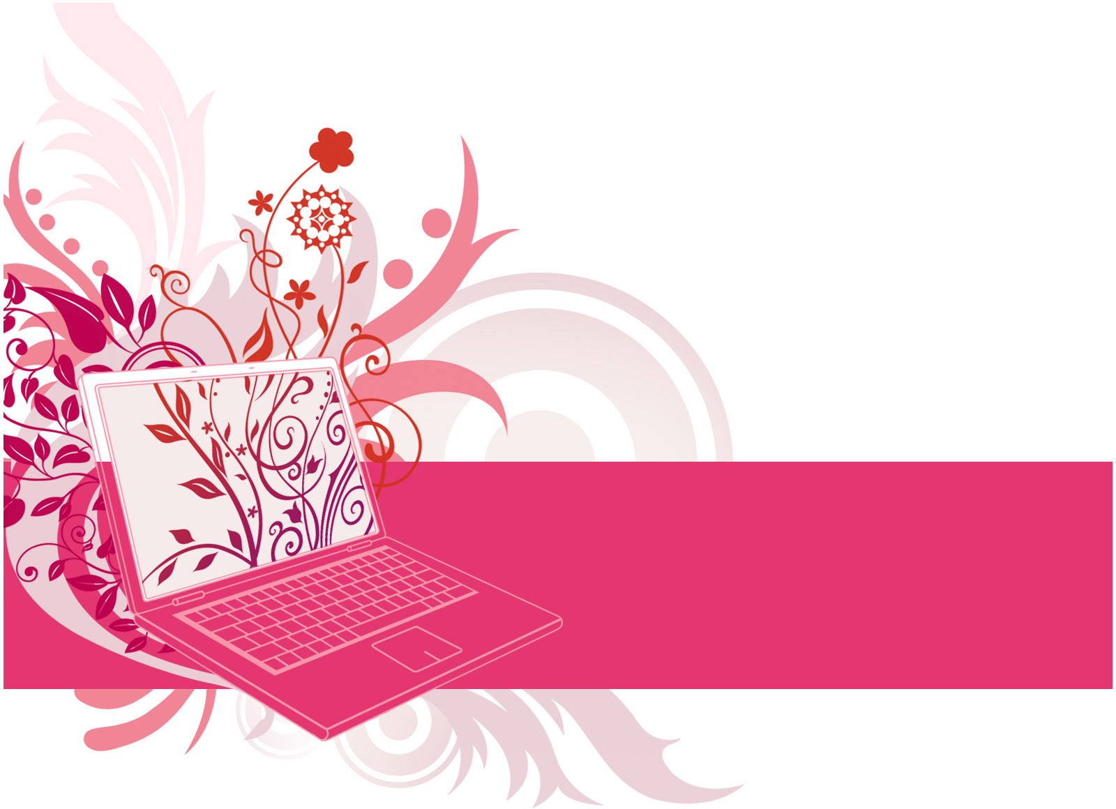 Pink Laptop Animated Backgrounds For Powerpoint Templates