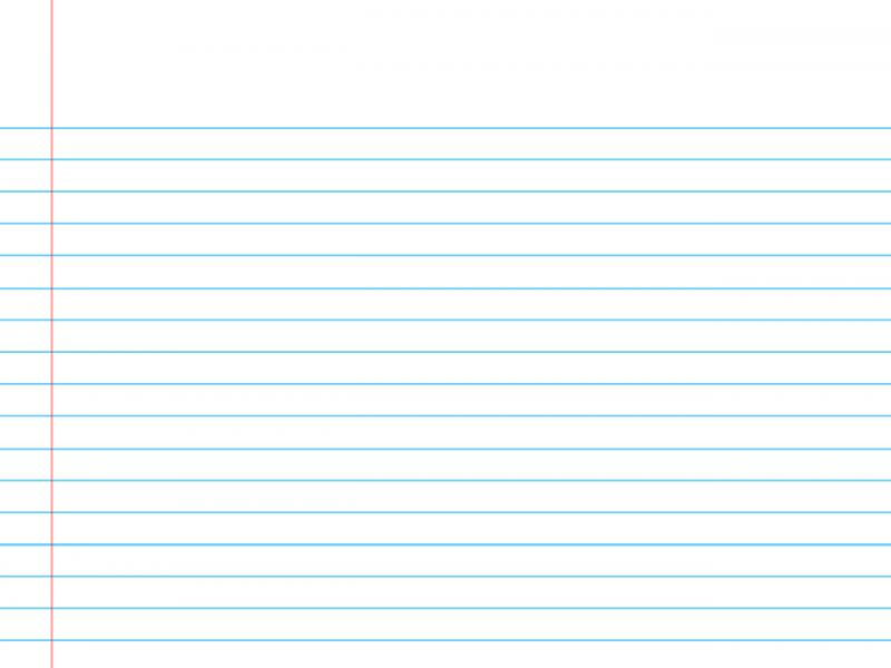 Plain Writing Notebook Paper Photo Backgrounds For Powerpoint