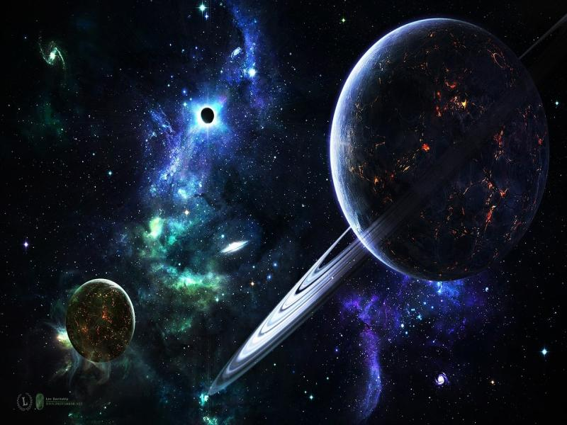 Planets In Spaces Graphic Backgrounds
