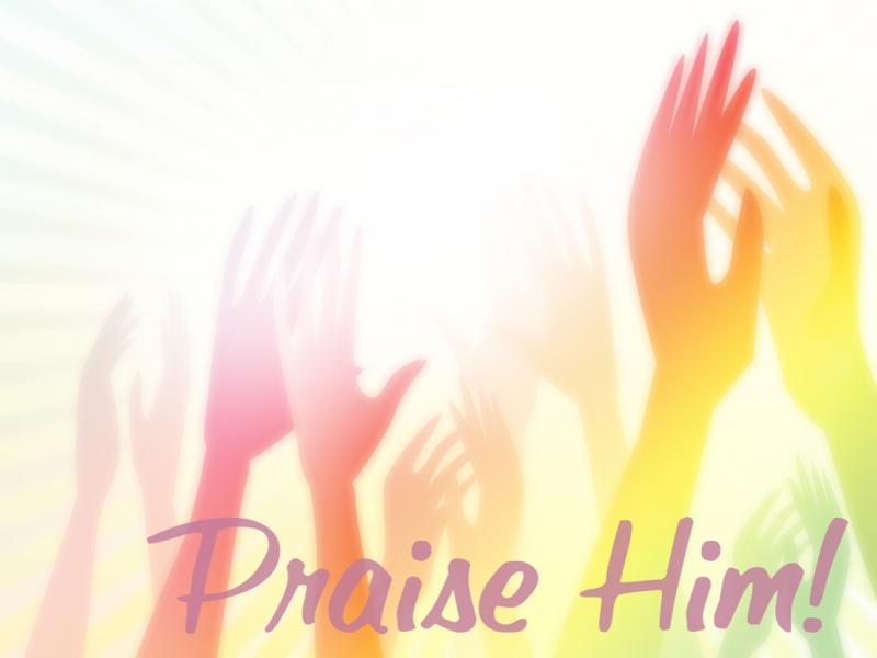 Praise Him Worship Presentation Backgrounds For Powerpoint Templates
