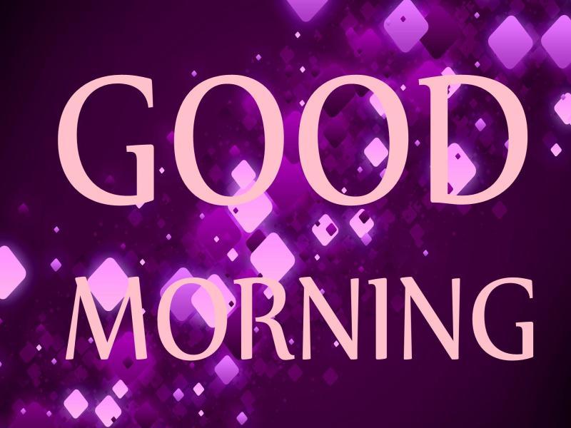 Purple Good Morning Design Backgrounds