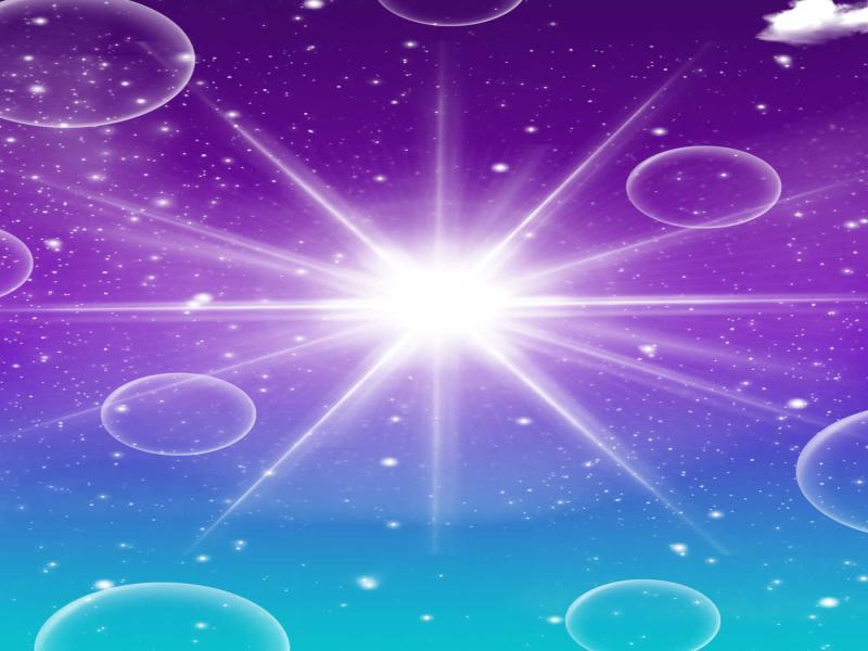 Purple Magicals  Slides Backgrounds
