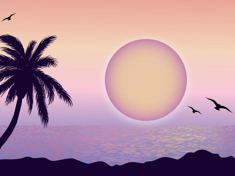 Purple Moon Backgrounds
