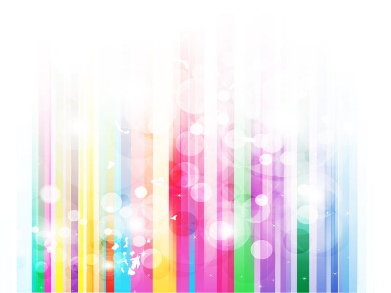 Rainbow Frame Backgrounds for Powerpoint Templates - PPT Backgrounds