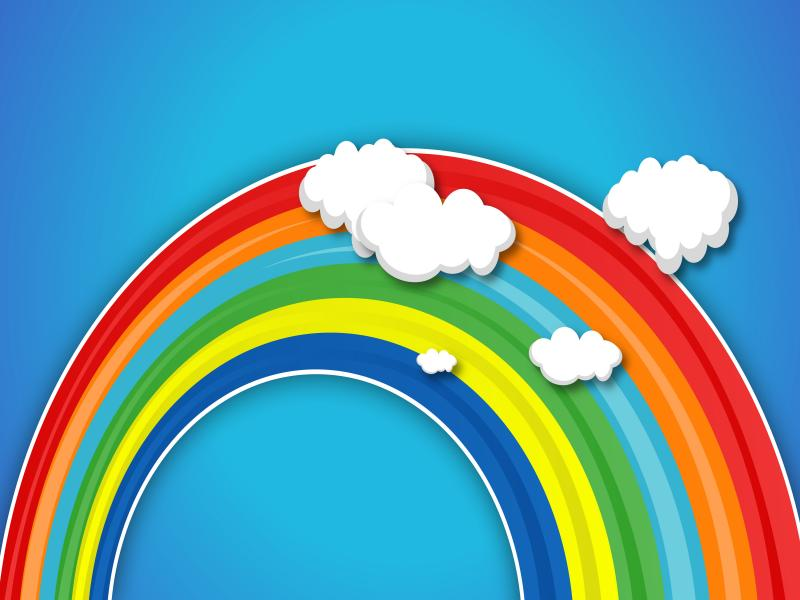 rainbow kids slides backgrounds for powerpoint templates
