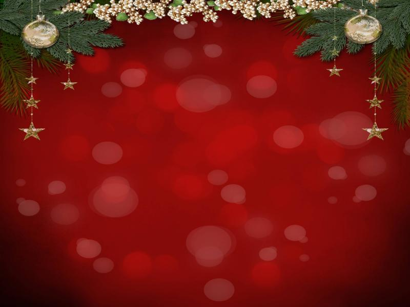 Red Christmas Photo Hd Picture Backgrounds For Powerpoint