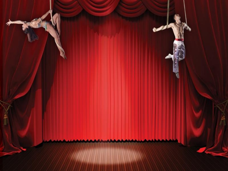 red fantastic circus quality backgrounds for powerpoint