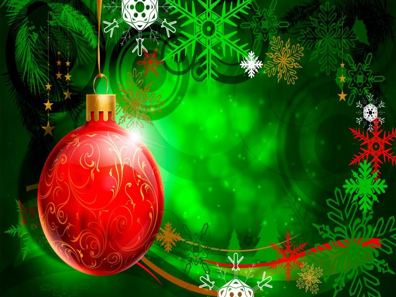 Red Green Christmas Template Backgrounds